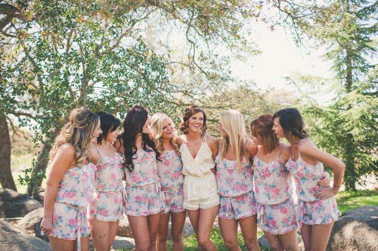 Who doesn't love a comfy, girly, super cute romper? These are so easy to find in the summer - anywhere from Target to Forever 21 has them! {via wedding chicks}