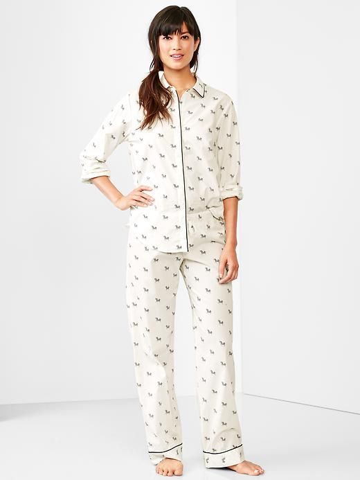 Although super hot and awesome for approximately five seconds, lingerie is both uncomfortable and not really a practical option for sleepwear. Enter: these zebra jammies from Gap! They're pretty cute to boot.