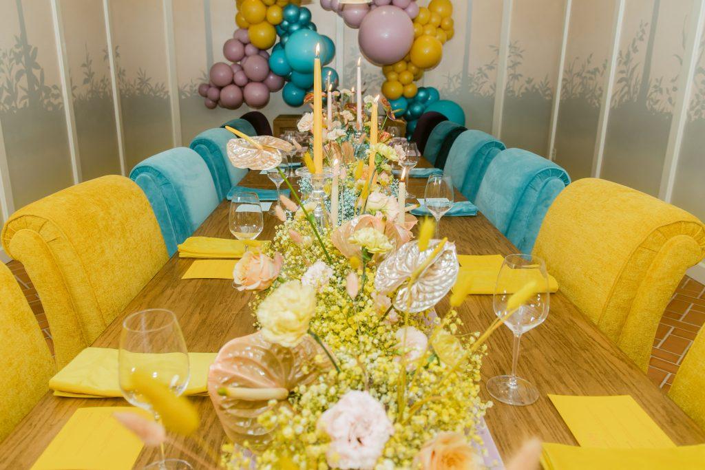 Bachelorette party tablescape
