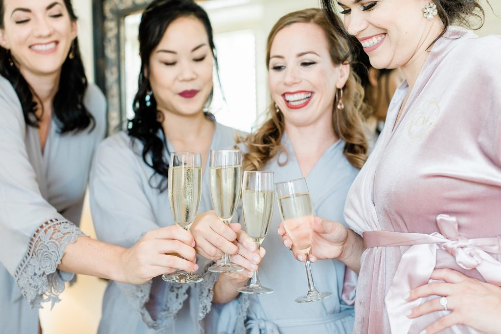 garden-inspired-wedding- bridesmaids